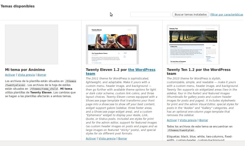Personalizar themes de wordpress - turosoft